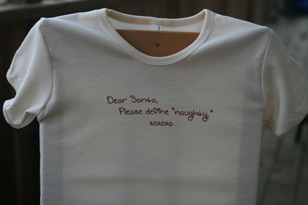 Dear Santa, Please Define Naughty